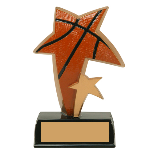 "6"" Color Resin Sports Star Basketball Trophy"