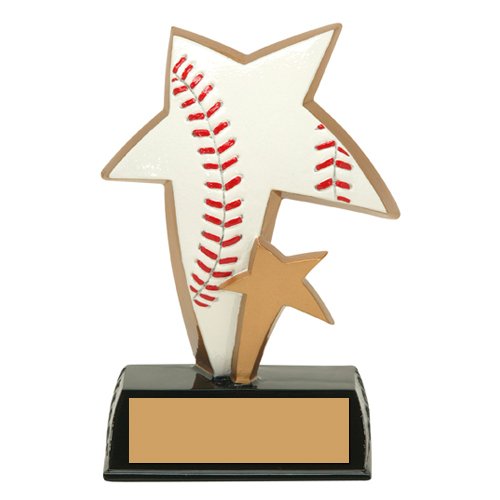 "6"" Color Resin Sports Star Baseball Trophy"