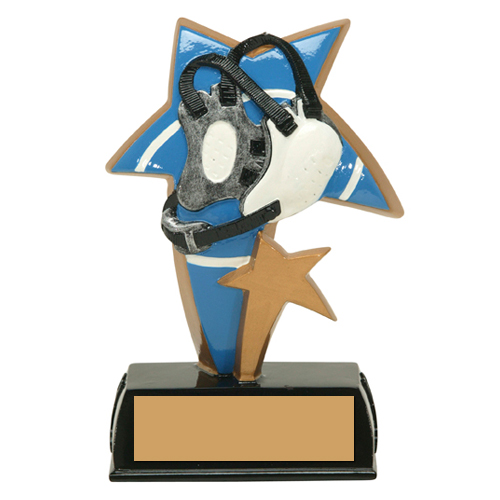 "6"" Color Resin Sports Star Wrestling Trophy"
