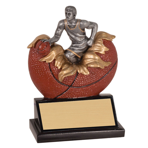 "5 1/4"" Xploding Male Resin Basketball Trophy"