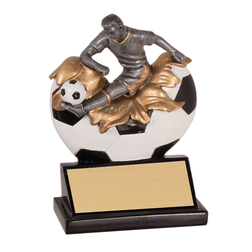 "5 1/4"" Xploding Resin Male Soccer Trophy"