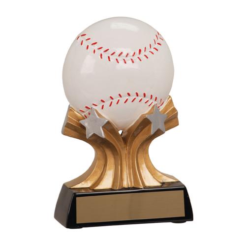 5 in Shooting Star Resin Baseball Trophy
