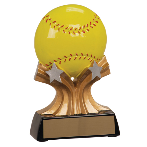 5 in Shooting Star Resin Softball Trophy