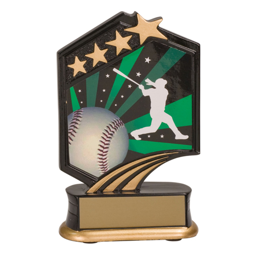 "5 1/2"" Graphic Resin Baseball Trophy"