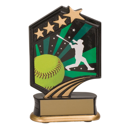 "5 1/2"" Graphic Resin Softball Trophy"