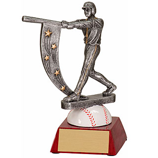 "6.5"" Male Baseball Action Star Resin"