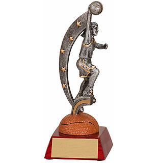 7.5 in Female Basketball Action Star Resin
