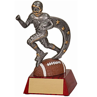 "6"" Football Action Star Resin"