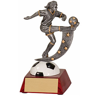 "6"" Female Soccer Action Star Resin"