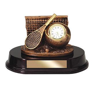 5 in  Bronze Sports Clock Resin