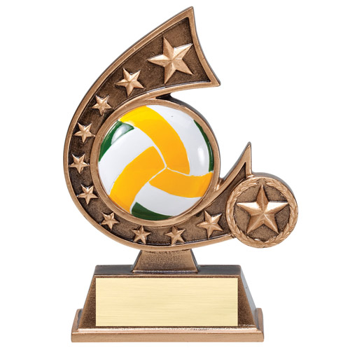 5-3/4 in Volleyball Comet Resin