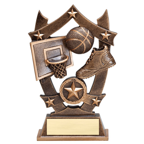 "6-1/4"" Stars Basketball Resin"
