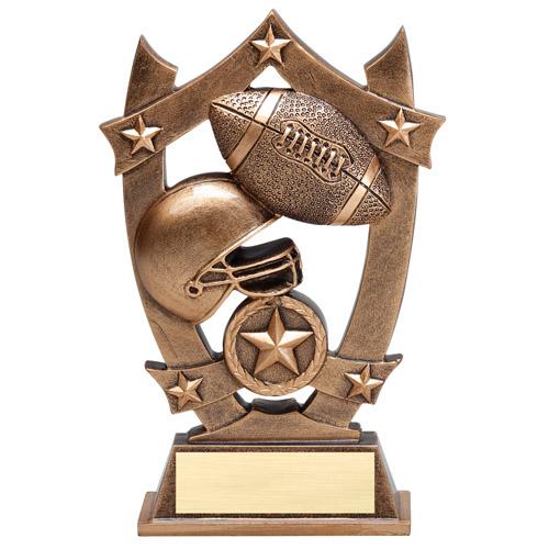 6-1/4 in Stars Football Resin