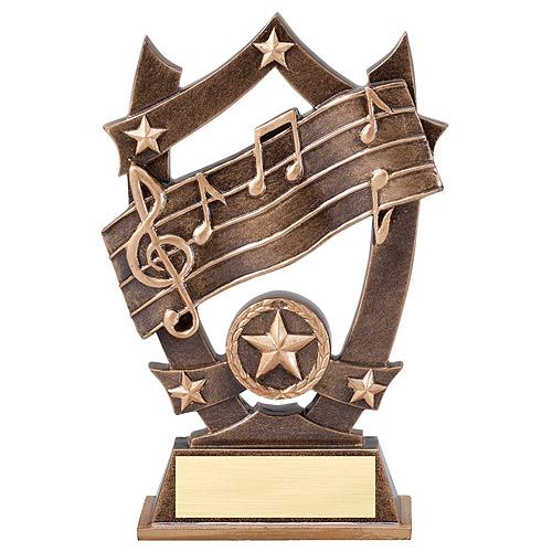 """6-1/4"""" Stars Music Resin"""