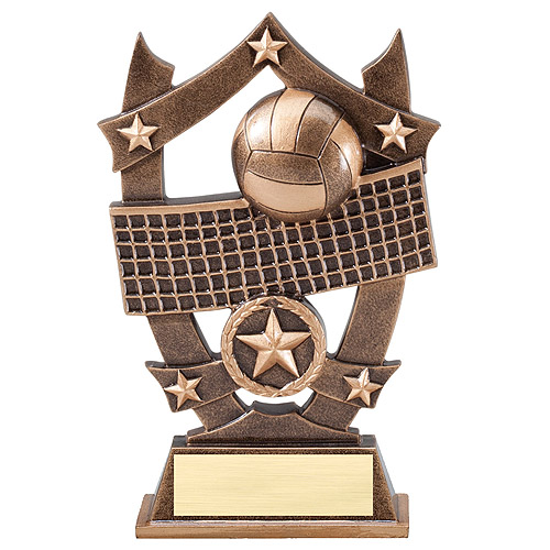6-1/4 in Stars Volleyball Resin