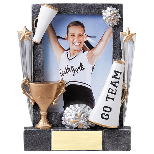 "7-1/4"" Cheerleader Resin Photo Frame"