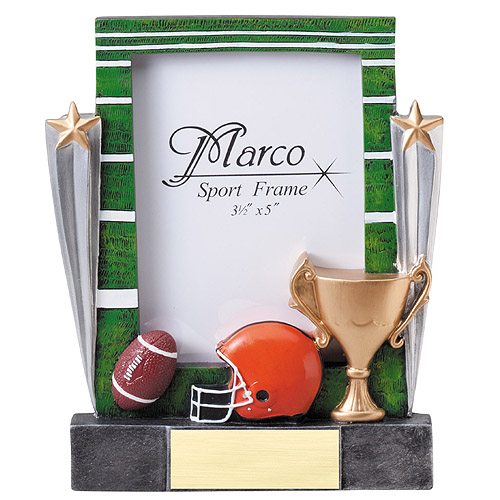 "7-1/4"" Football Resin Photo Frame"