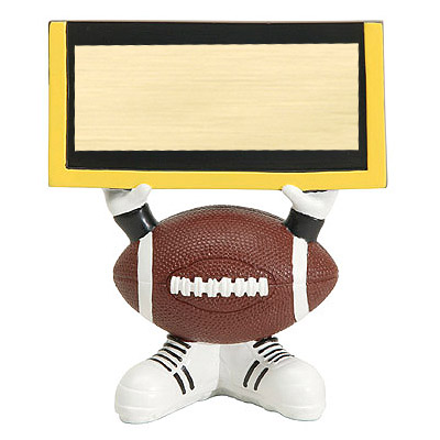 "4.25"" Football Ball Head Resin Trophy"