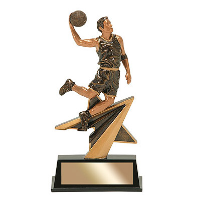 7 in Star Power Male Basketball Resin