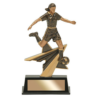 "7"" Star Power Female Soccer Resin"