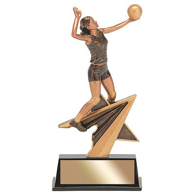 "7"" Star Power Female Volleyball Resin"