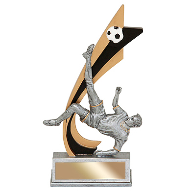 "8"" Male Soccer Action Resin"