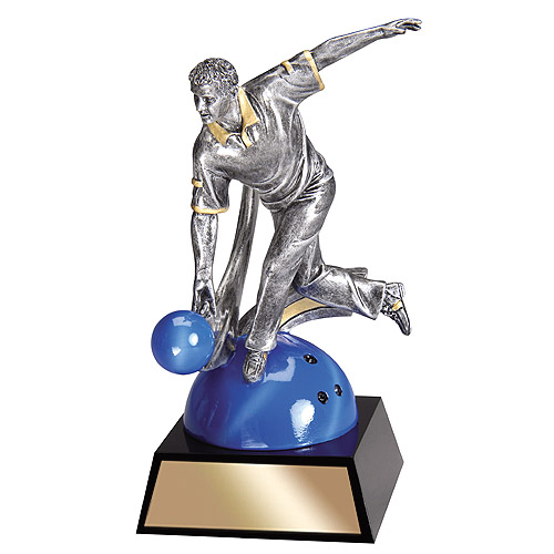 "7"" Male Bowling Resin Trophy"
