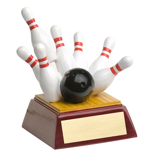 "4"" Full Color Bowling Theme Resin"