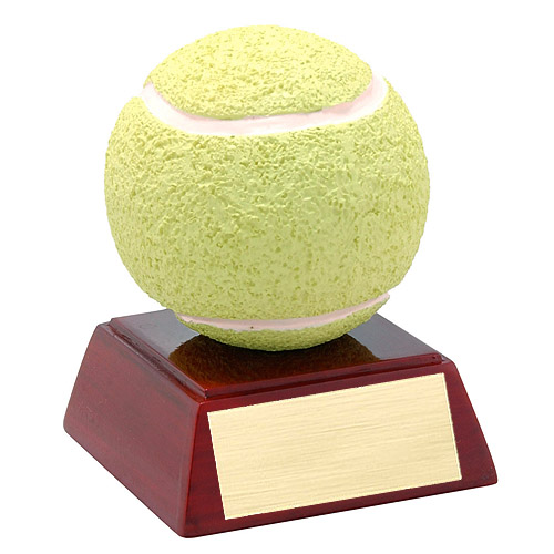 "4"" Full Color Tennis Theme Resin"
