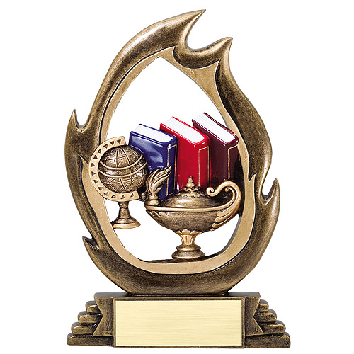 "7-1/4"" Academic Flame Series Resin"
