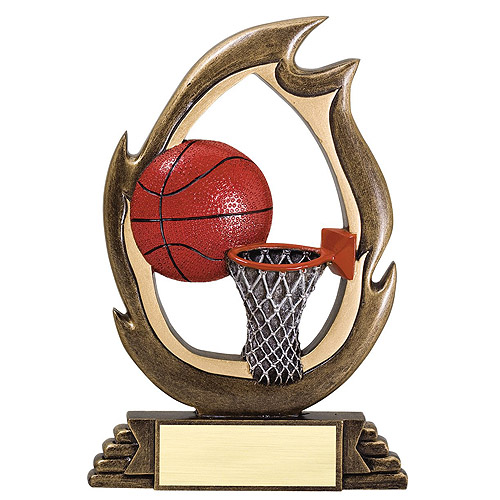 7-1/4 in Basketball Flame Series Resin