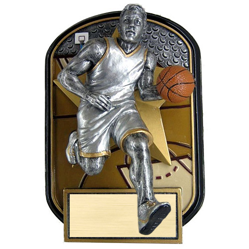 "6.5"" Rock n Jox Male Basketball Resin Trophy"