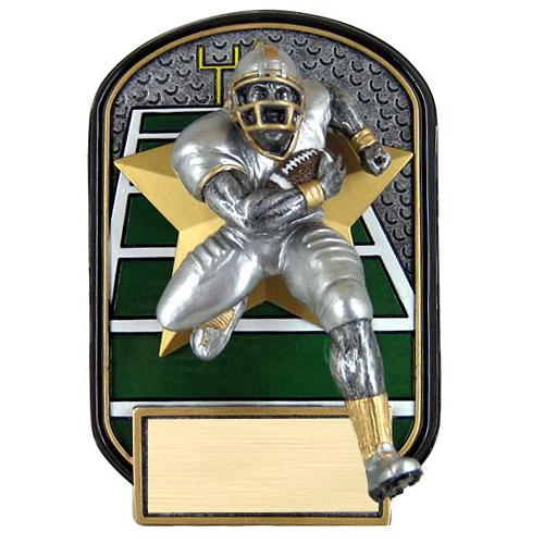 "6.5"" Rock n Jox Football Resin Trophy"