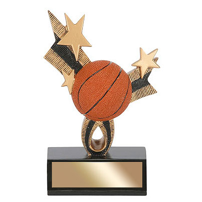 6 in Basketball Top Star Resin