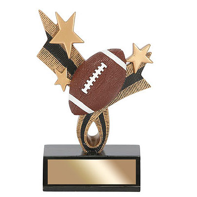 6 in Football Top Star Resin
