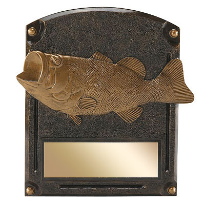 6 in x 8 in Fishing Legends of Fame Resin Trophy