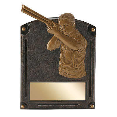 6 in x 8 in Hunting Legends of Fame Resin Trophy