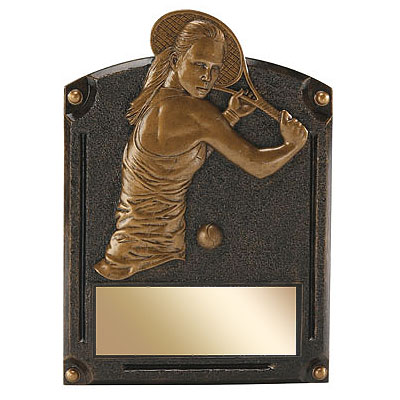 "6"" x 8"" Female Tennis Legends of Fame Resin"