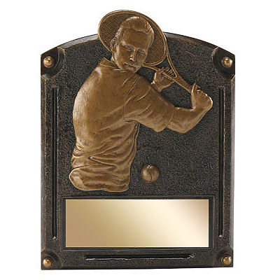 6 in x 8 in Male Tennis Legends of Fame Resin