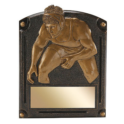 "6"" x 8"" Wrestling Legends of Fame Resin Trophy"