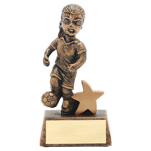 "5"" Junior Star Female Soccer Resin"