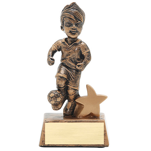 "5"" Junior Star Male Soccer Resin"