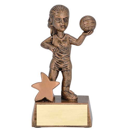 "5"" Junior Star Female Volleyball Resin"
