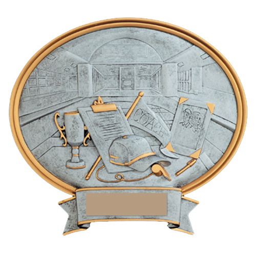 "8"" Resin Sport Oval Coach Trophy"