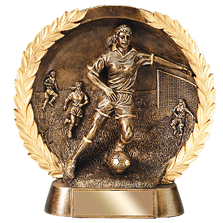 Bronze Resin Soccer Trophy (Female)