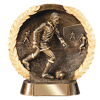 Bronze Resin Soccer Trophy (Male)