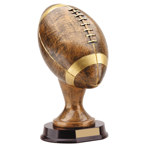 12.5 in 3D Gold Football