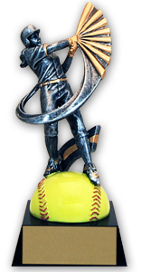 7 1/4 in Female Softball Extreme Action Resin Trophy
