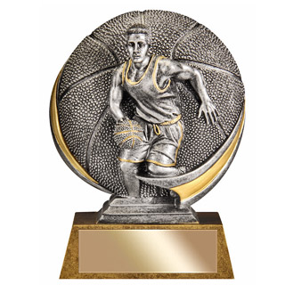 "Male 5"" 3D Resin Basketball Trophy"