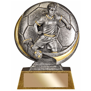 "Female 5"" 3D Resin Soccer Trophy"